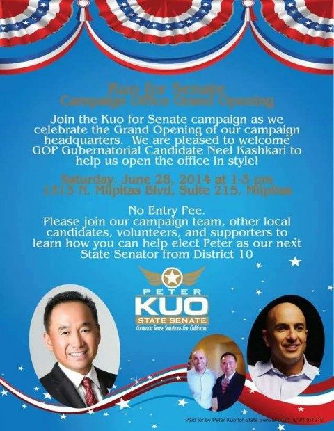 Kuo for Senate Office Grand Opening with Neel Kashkari