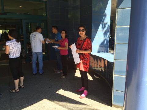 7/6: SD10东湾ALAMEDA义工选民注册活动