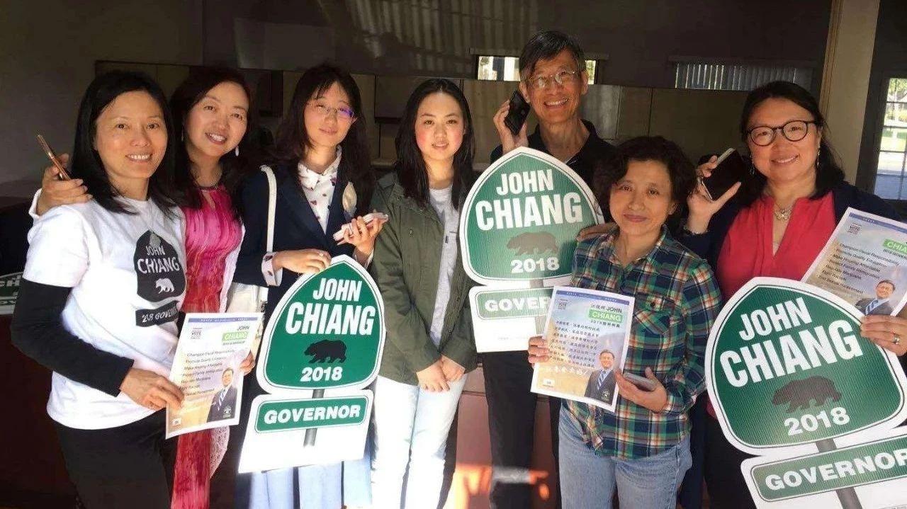微信团体为加州州长候选人江俊辉助选记实