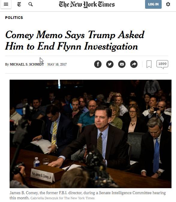 【重大】川普曾要求FBI停止对弗林的调查(科米备忘录)/希拉里回归政治舞台,组建新政团体 | 图姐