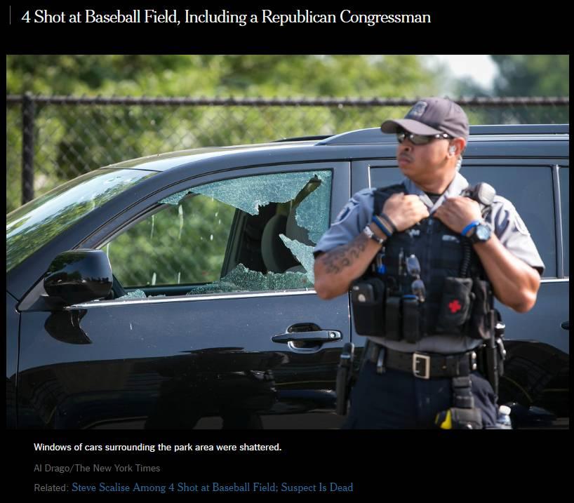 今年第154起大规模枪击案,共和党党鞭遭枪击 | 图姐