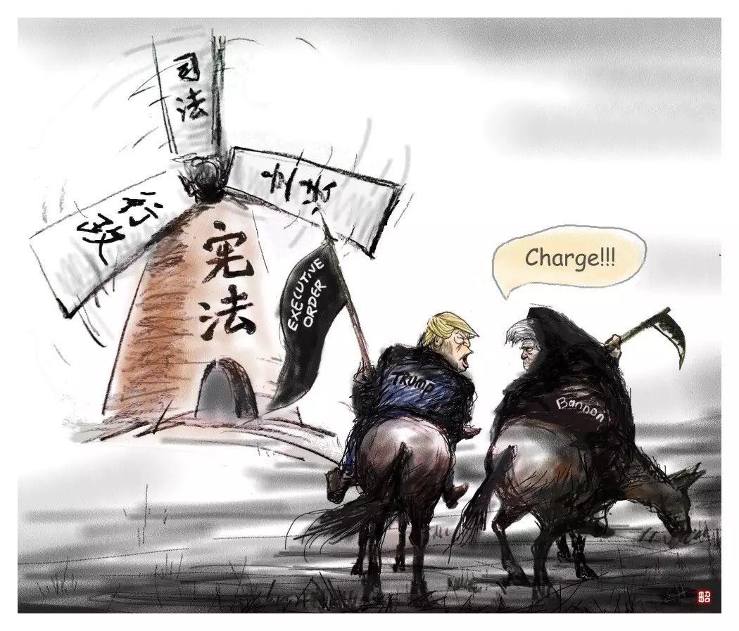 图姐 | 田召漫画专辑:川普执政一个月回顾
