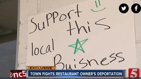 中餐馆老板绿卡面试时遭逮捕面临遣返,小镇居民爱心营救