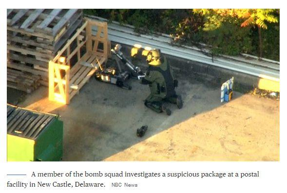 惊魂炸弹包裹数上升至10个,纽约市长称:这是恐怖主义行为