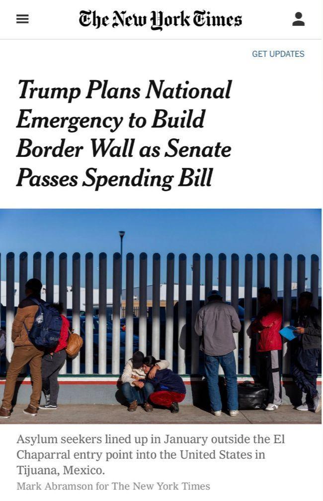 特朗普为建墙或三箭齐发:签国会预算案,国家紧急状态和行政命令 | 图姐