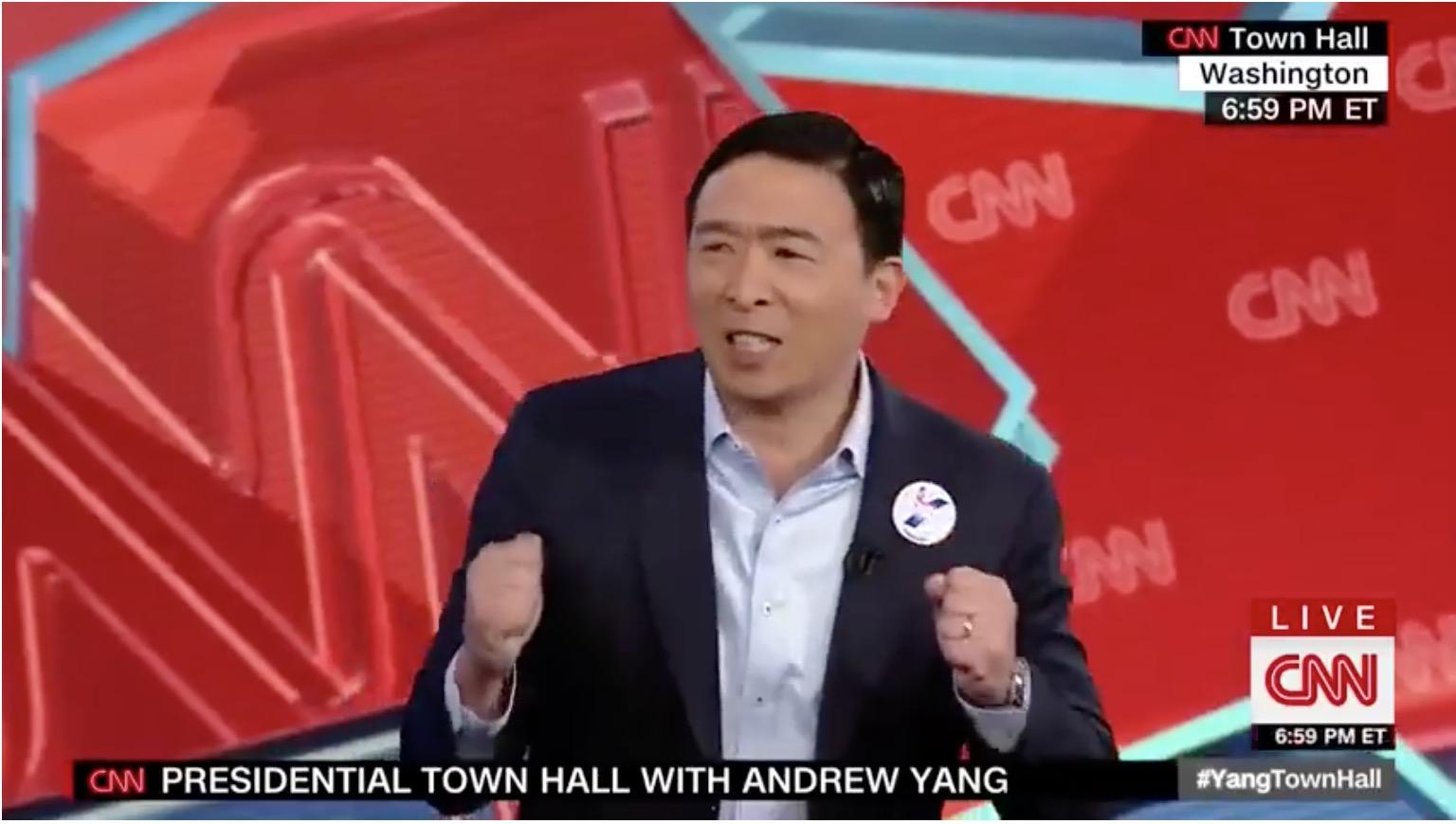 总统候选人杨安泽亮相CNN Town Hall(全程录像)