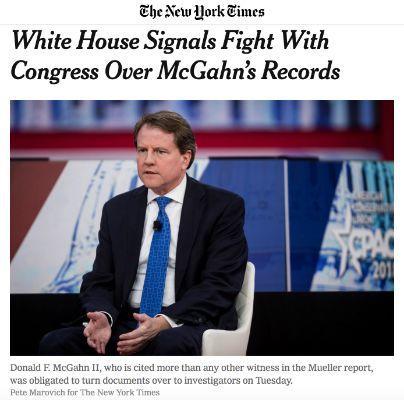 白宫全方位阻扰对总统的调查,与国会对抗再次升级
