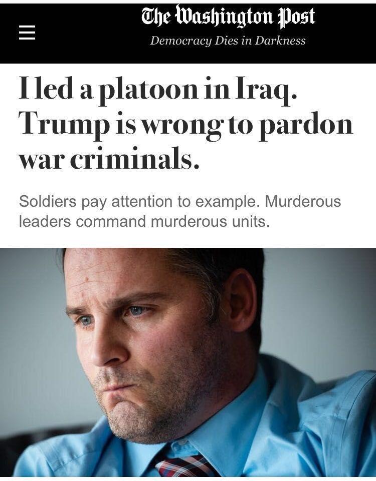 """""""美国英雄""""还是""""战争罪犯""""?总统声称要赦免被指虐杀战俘的美军士兵"""