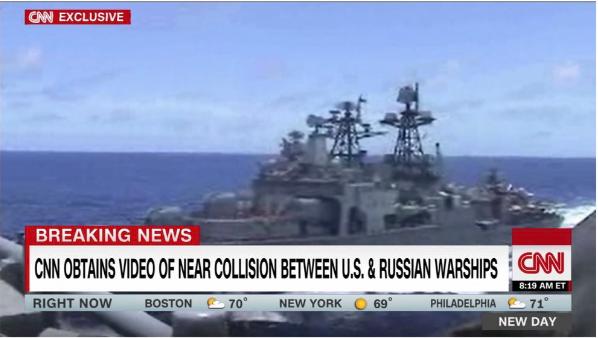 中国端午节,美俄战舰在太平洋赛龙舟了!