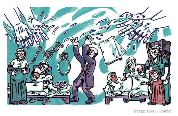 为了提倡洗手,这位医生把自己送进了精神病院 (视频)